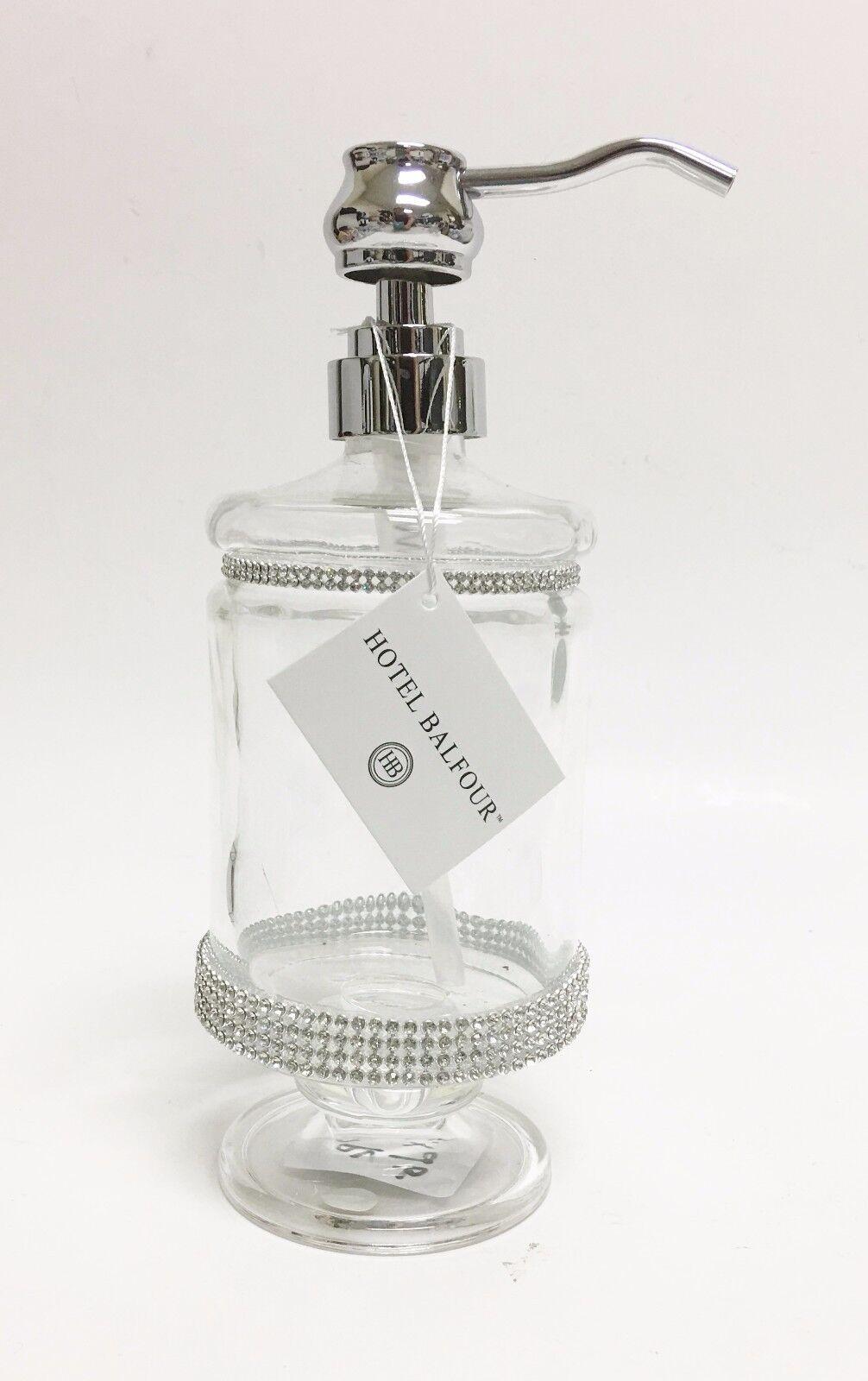 Neu Hotel Balfour Klar Glas Kristall Kuche Badezimmer Seife Lotion Spender Ffaacf