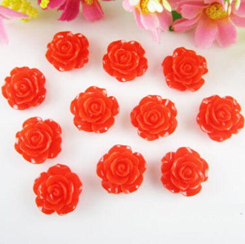 Beautiful 30 Resin Rose Flower Flatback Appliques For Phone//Wedding//Crafts UK