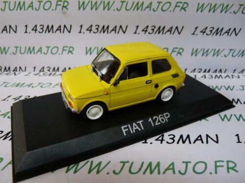 Fiat 126 P Gialla BAL56U Macchina 1//43 Ixo Deagostini Balcani