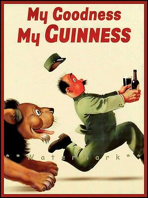 Knight Guinness Time Drink Vintage Poster Print Retro Beer Advertisement