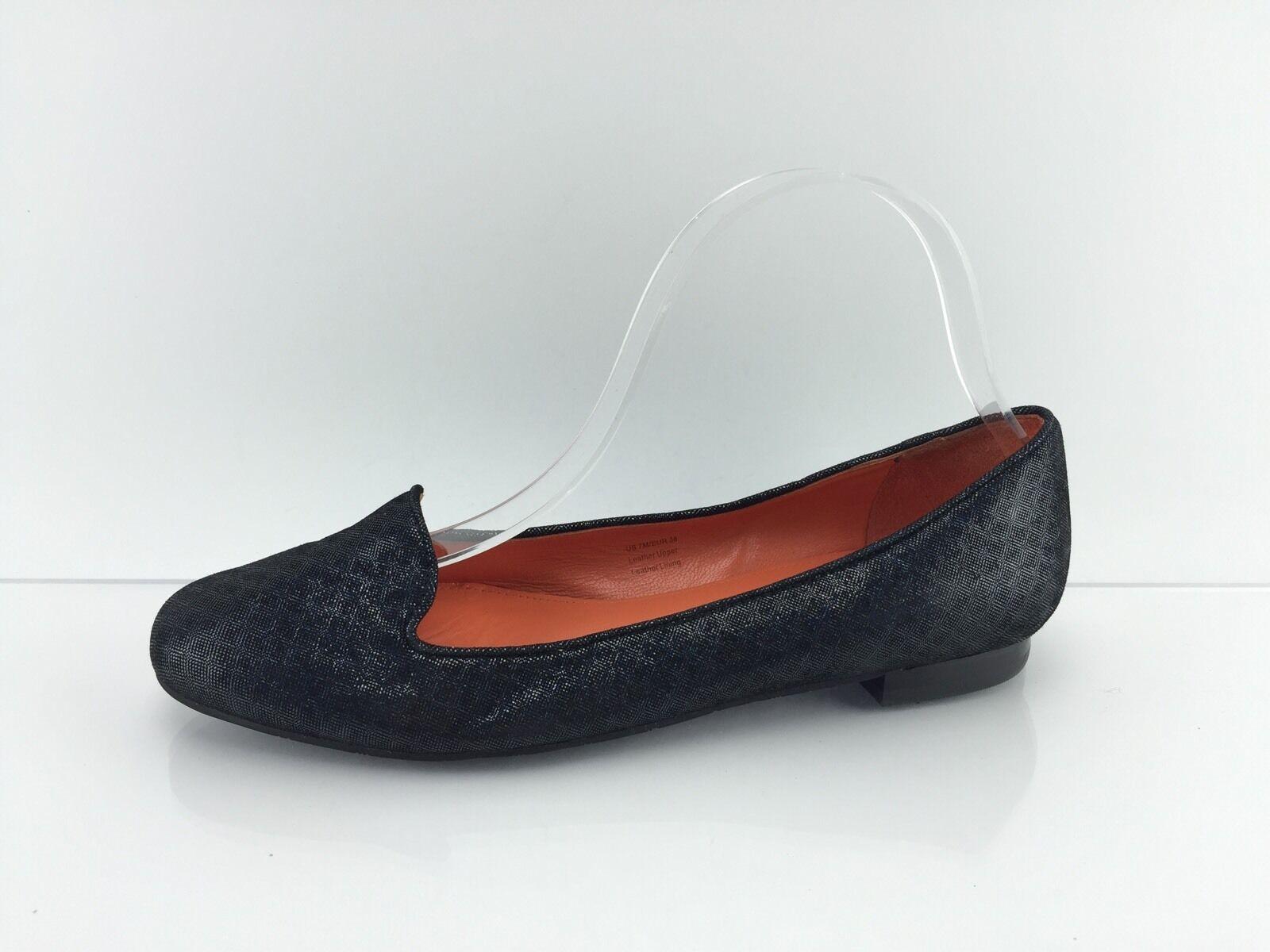 Via Spiga Women's Black/Multi Color Sparkled Flats 7 M