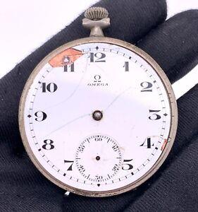 Omega-Cal-40-6L-T2-15P-Main-Manuel-Vintage-45-mm-Pas-Marche-pour-Pieces-Verre