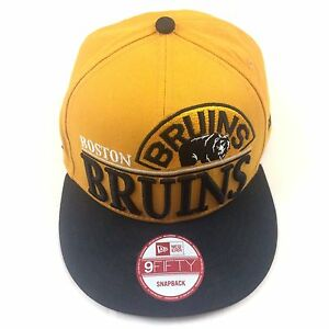 Boston-Bruins-New-Era-9FIFTY-Snapback-NHL-Baseball-Cap-One-Size-Fits-Most