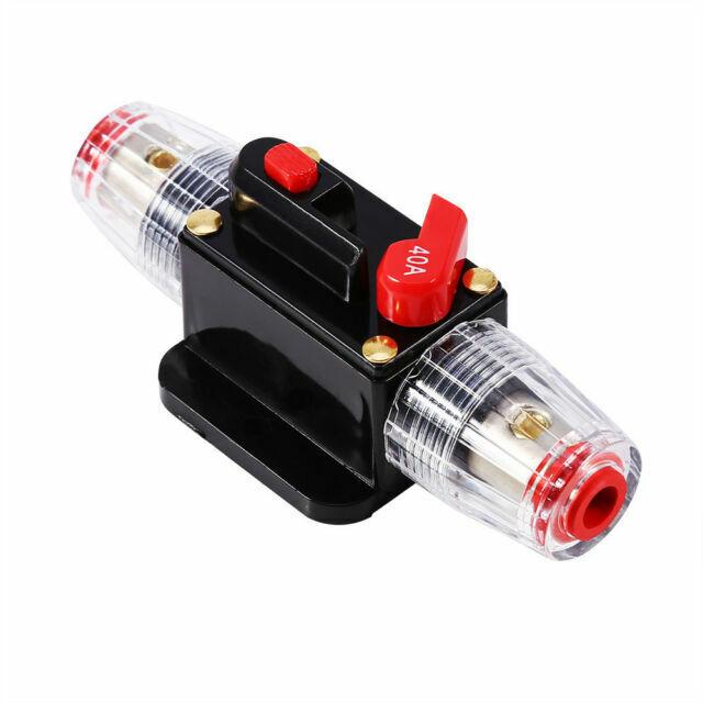 12V//24V Car Audio Inline Circuit Breaker Motor Vehicle Fuse Holder Driving Equip