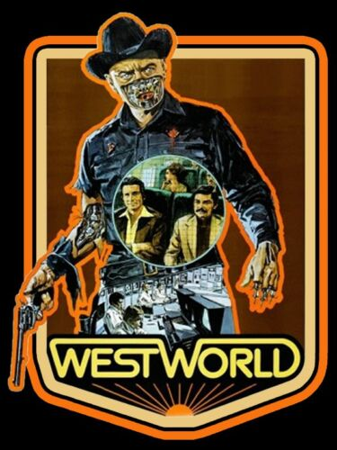 70/'s Sci-Fi Classic Westworld Poster Art custom tee Any size Any Color