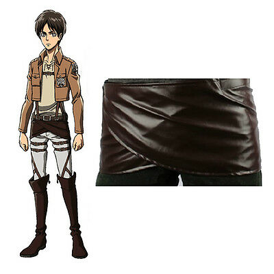Attack on Titan Cosplay Shingeki no Kyojin Leder Rock Kostüme Soldier Uniform