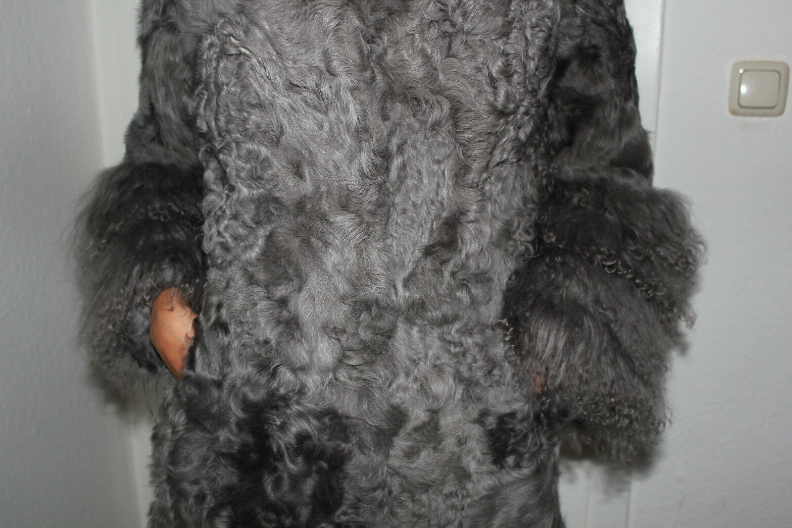 Mantel Genuine Fur Ziege Tibetlamm Pelz Gr.38( N.P.2700)