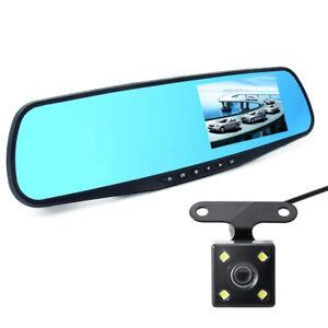 1080P-4-3-034-TFT-Dual-Len-Car-DVR-Rearview-Mirror-Camera-Video-Recorder-Dash-Cam-G
