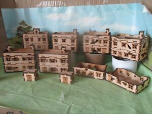 15mm-6-Shops-sheds-and-extras-Wargames-FOW-Team-Yankee-Lasr-Cut-Scenery