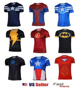 Image is loading Superhero-Halloween-Costume-T-Captain-America-Spiderman-T- 36a467cf7