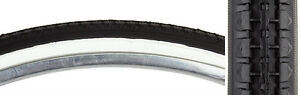 (2) Sunlite 26 X 1 3/8 Inch Whitewall Bicycle Tires with 2 Tubes