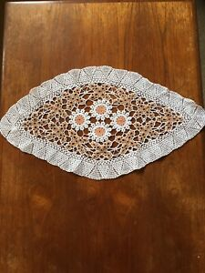 Large Vintage Hand Crocheted Doily 60cm Centrepiece Crochet Dining Table