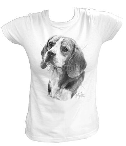 Damen T-Shirt 13257 Beagle Jagdhund Meute Hund Dog Welpe Breed Rasse Haustier