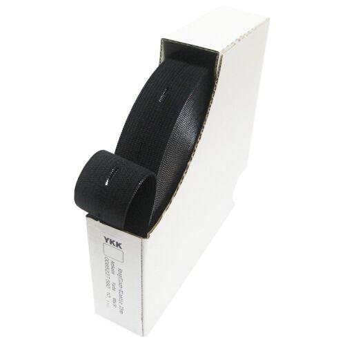 1.90 EUR//Meter 10m 1 Rolle Knopfloch Gummiband 18mm schwarz