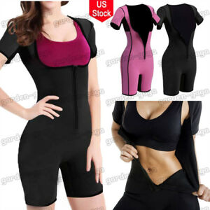 7adab7700ee Image is loading Women-Neoprene-Full-Body-Shaper-Ultra-Sweat-Weight-