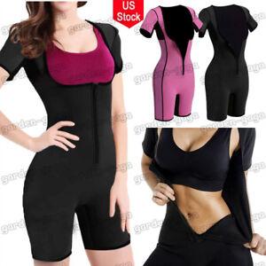 Women Neoprene Full Body Shaper Sweat Sauna Gym Suit Bodysuit For Weight Loss