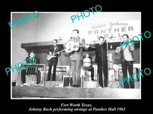 OLD-8x6-HISTORIC-PHOTO-OF-FORT-WORTH-TEXAS-JOHNNY-BUSH-AT-PANTHER-HALL-1963