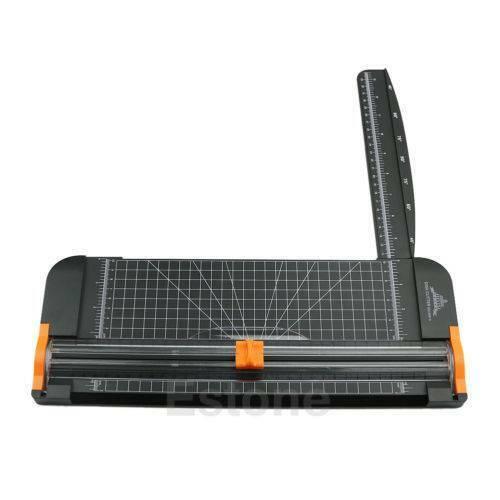 New Jielisi 909-5 A4 Guillotine Ruler Paper Cutter Trimmer Cutter Black-Orangex1