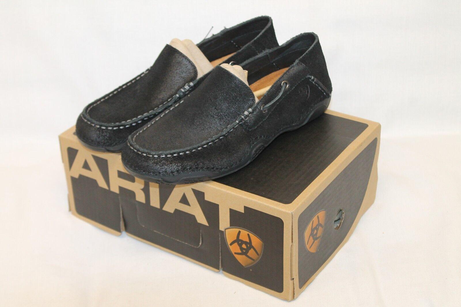 Zapatos De Cuero nuevo En Caja Para Hombre Ariat 10011967 violentado negro 9 Extra Ancho Gleeson Dogwood Casual