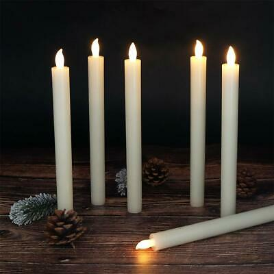 Set Of 6 Flameless Candles Window Taper With Timer And Remote Control Ebay