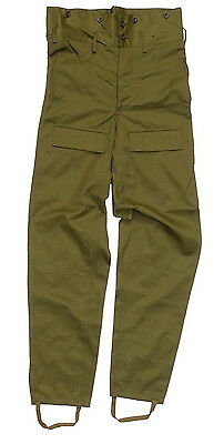1980s Army Combat Trousers Olive Green Military Cargo Pants Adjustable 6 Pockets