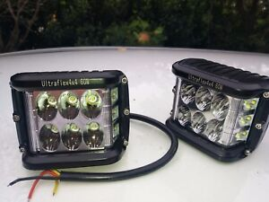 Details About Ultraflex4x4 60w Led Work Lights Rugged With Dual Mount Camping Flasher Mode