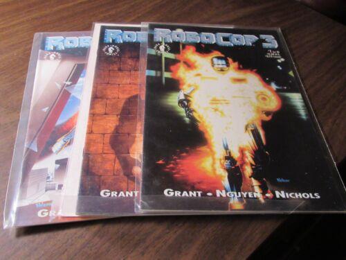 Robocop 3 #1 2 3 Dark Horse Mini Series Comic Book Set 1-3 Complete