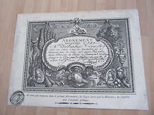 THEATRE DES TERREAUX lyon ABONNEMENT A TOUS LES SPECTACLES 18ème siècle