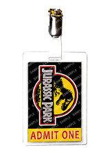 Jurassic Park ID Badge Admit One Dinosaur Cosplay Prop Costume Gift Comic Con