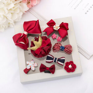 10-Pieces-Set-Exquisite-Baby-Headdress-Baby-Bow-Knot-Hairpin-Hair-Accessories