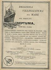 Y0813 SITMAR le crociere del piroscafo NEPTUNIA - Pubblicità 1927 - Advertising