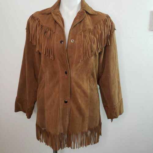 Excelled Leather/Suede Boho Fringed Jacket Size Sm