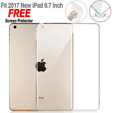 "For New iPad 9.7"" 2017, Clear Ultral Slim Fit Silicone Soft TPU Back Case Cover"