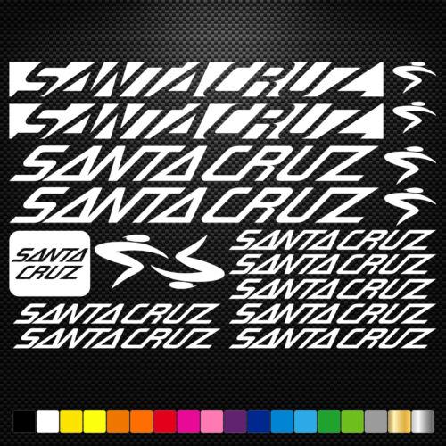 Santa Cruz Vinyl Decals Stickers Sheet Bike Frame Cycle Cycling Bicycle Mtb Road