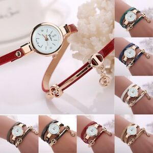 New-Fashion-Women-039-s-Ladies-Watch-Stainless-Steel-Leather-Bracelet-Wrist-Watches