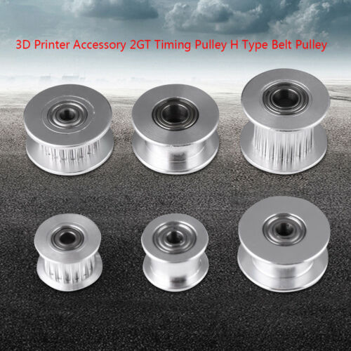 GT2 5mm Bore Aluminum Toothed Timing Belt Idler Pulley for 3D Printer 6mm Width