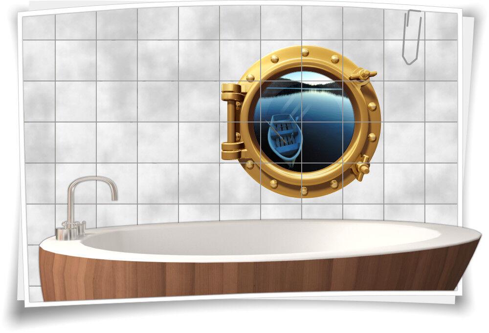 Fliesenaufkleber Fliesenbild Fliesen Bullauge Wasser See Stiefel Aufkleber Bad   Hohe Qualität Und Geringen Overhead
