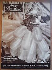 UNSER RUNDFUNK 28 - 1957 Pr: 7.- 13.7. Fräulein Titelbild Stalinallee FF DABEI