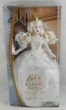New Disney Store Alice and the Looking Glass Mirana White Queen Doll 13 1/4