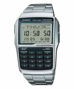 CASIO-DBC-32D-1A-Data-Bank-Vintage-Series-Calculator-Telememo-Bracelet-Silver