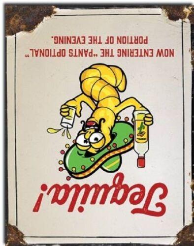 Tequila Pants Optional Liquor Jose Funny Humor Wall Bar Decor Metal Tin Sign New