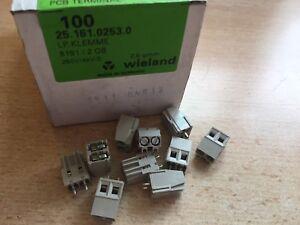 Paso-de-5-mm-de-2-Pines-conector-de-bloque-de-terminal-de-tornillo-de-montaje-de-PCB-UK-100-piezas