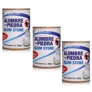 Alum-Stones-Rocks-Chips-USP-2-oz-Tawas-Fitkari-Alumbre-en-Piedras-3-PACK