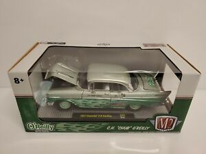 M2-Machines-O-039-Reilly-Auto-Parts-1957-Chevrolet-210-Hardtop-1-24-2019-Green-HTF