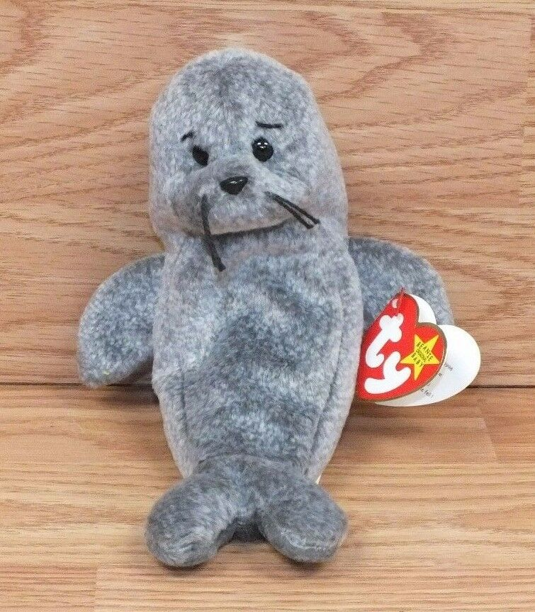 Genuine TY Slippery The Seal 1999 & 1998 Tag Errors Errors Errors Beanie Baby Animal READ dea2fa
