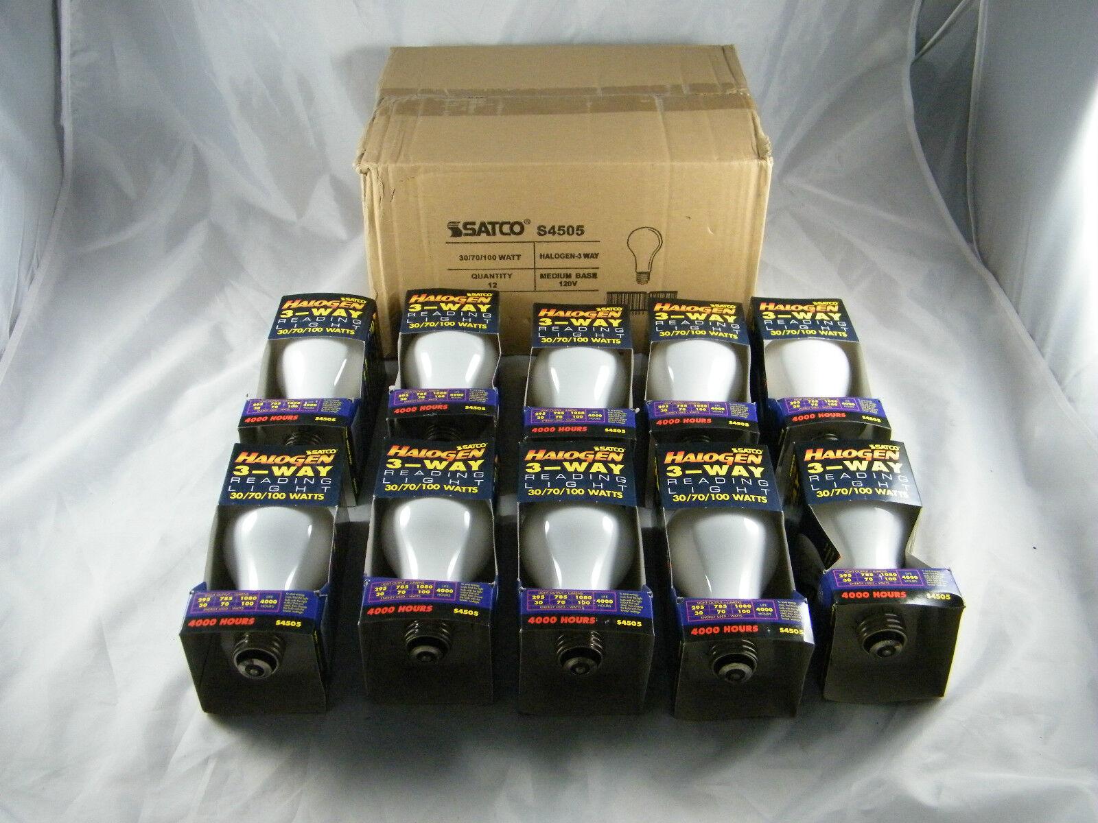 Lote De 10  Nuevo  Satco 3 modo halógeno luz de lectura bombillas 30 70 100w   s4505