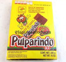 De La Rosa Pulparindo Tamarind Pulp Real Fruit Mexican Candy 20 pcs Hot and Salt