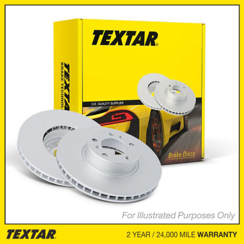 Genuine OE Textar Coated Rear Vented Brake Discs Pair Set 92107003