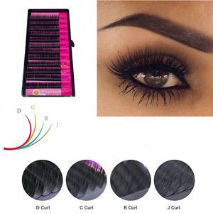 Details about False Individual Eyelash Extension Blink Mink Lashes Curl Eye  Lash 8/10/12/14mm