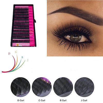 Blink Black Mink Tray Lashes B, C, D, J Curl For Individual Eyelash  Extensions | eBay